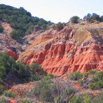 A side canyon with      orange brown colors
