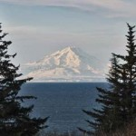 Mt. Redoubt across the Cook Inlet