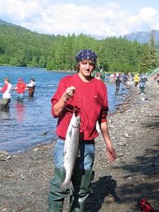 Travis' first red salmon