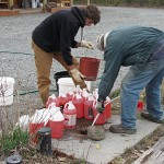 Filling jugs with RV antifreeze
