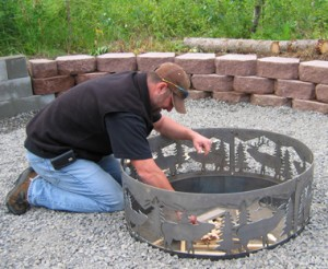 Placing fire ring
