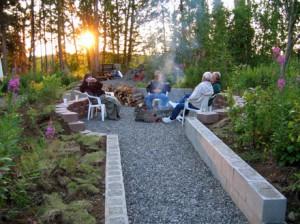 Sunset around the campfire