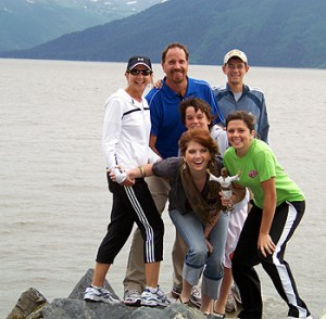 Family at the Turnagain Arm