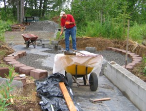 Craig laying blocks