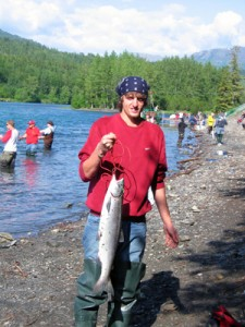 Travis' 1st Red Salmon