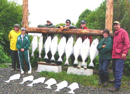 Stromgren Family Halibut catch