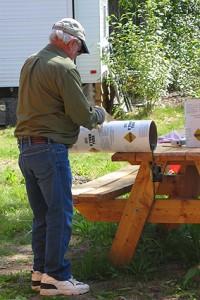 Cutting concrete tubes