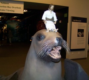 Jesus on a seal