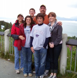Stromgren family at the Homer Overlook
