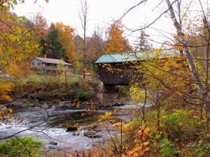 Codding Covered Bridge, 1877, Kelly river on Codding Hollow road
