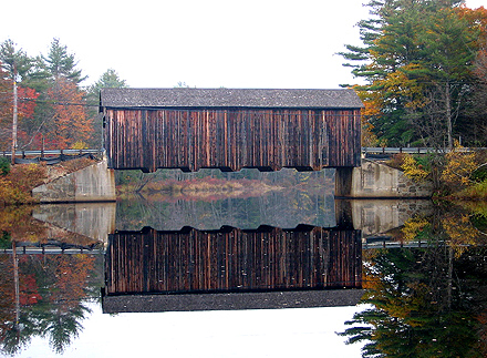 County Farm Covered Bridge, 1937, over Powder Mill Pond