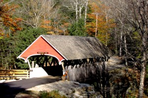 Flume Gorge Covered Bridge,1871, over Pemigewasset River