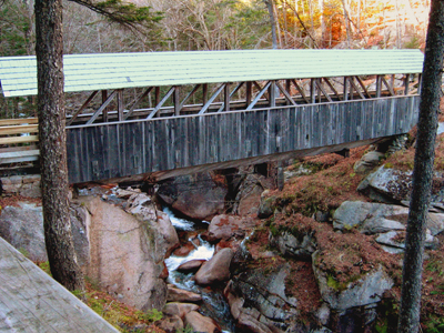 Sentiel Pine Covered Bridge in Flume Gorge