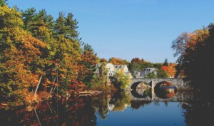 Henniker Stone Bridge on Contoocook river