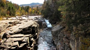 Rocky Gorge Falls along the Kancamagus Highway