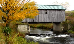 Schribner Covered Bridge, date unknown, Cihon river near Johnson
