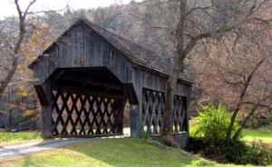 Smith Covered Bridge, 1870, Barnard Brook near South Pomfret