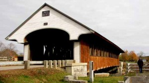 Smith Mill Covered Bridge over the Baker river, Plymouth