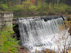 Falls downstream from Blow-me-down Covered Bridge