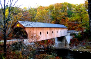 Upper Falls Covered Bridge, 1840, Black river near Downers Four Corners