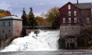 Old Mills on Otter river downtown Vergennes
