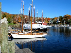 Sailboats in Camden Harbor