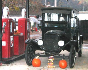 Delivery Truck at Gas Station