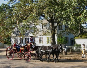 Horse Carriage in Colonial Williamsburg
