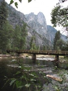 Sentinel Rocks above the Merced River