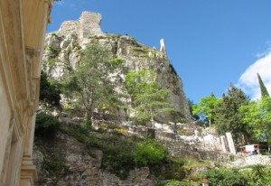 Castle Ruins above Church