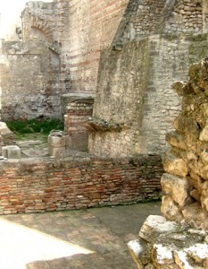 The remains of the baths