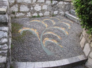 Pebble Mosaic Stairs