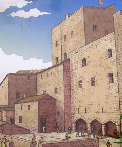 Drawing of the Main Castel