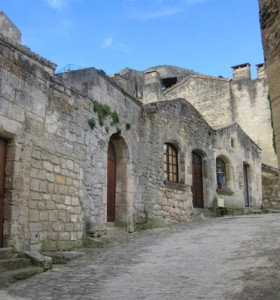 Climbing the Streets of Les Baux village