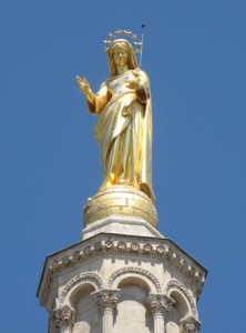 Gold Statue of Mary