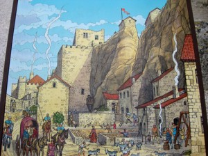 Drawing of Main Road into Castle