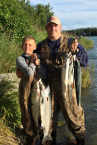 A day's catch for both of them