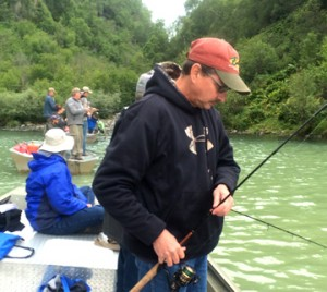 Combat fishing from a boat
