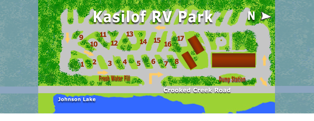Layout of Kasilof RV Park